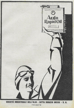 "1928 * Advertising Original ""Auto Rapid Oil - Pilota"" in Passepartout"