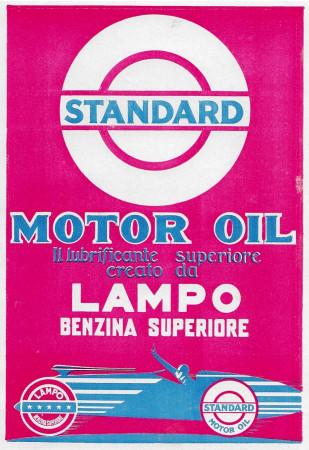 """1928 * Advertising Original """"Standard - Lampo Benzina Superiore"""" in Passepartout"""