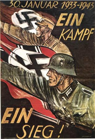 "ND (WWII) * War Propaganda Reproduction ""Germania - 30 Gennaio 1933-1943"" in Passepartout"