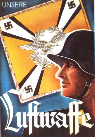 "ND (WWII) * War Propaganda Reproduction ""Germania - La Nostra Luftwaffe"" in Passepartout"