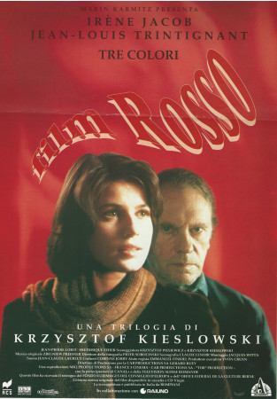 "1994 * Movie Playbill ""Three Colours: Red - Jean-Louis Trintignant"""