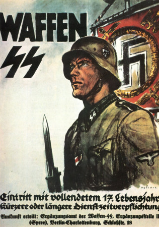 "ND (WWII) * War Propaganda Reproduction ""Germania - Waffen"" in Passepartout"