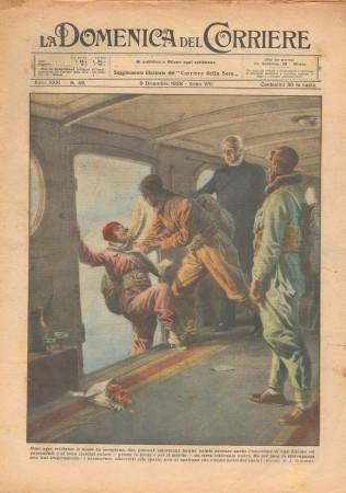 """1929 * Original Historical Magazine """"La Domenica Del Corriere (N°49) - Nozze in Aeroplano"""""""