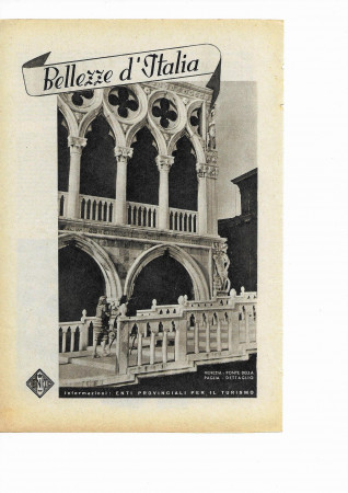 "1942 * Advertising Original Tourism ""Bellezze d'Italia - VENEZIA"" White/Black"