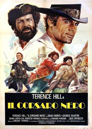 "1971 * Movie Poster 2F ""Il Corsaro Nero - Terence Hill, Bud Spencer"" Adventure (B+)"