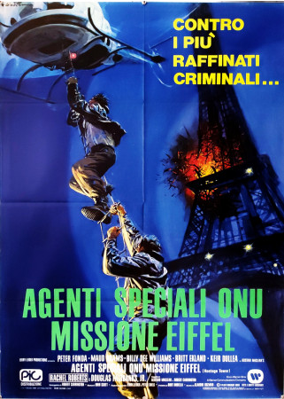 "1980 * Movie Poster 2F ""Agenti Speciali ONU Missione Eiffel - Britt Ekland, Peter Fonda"" Thriller (B+)"