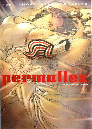 """1970ca * Poster Original """"Permaflex, Vero Amore"""" Milo Manara (A-)"""