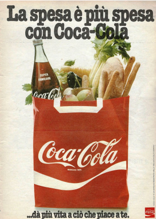 "Anni '70 * Pubblicità Originale ""Coca-Cola ...dà Più Vita a Ciò Che Piace A Te"" in Passepartout"