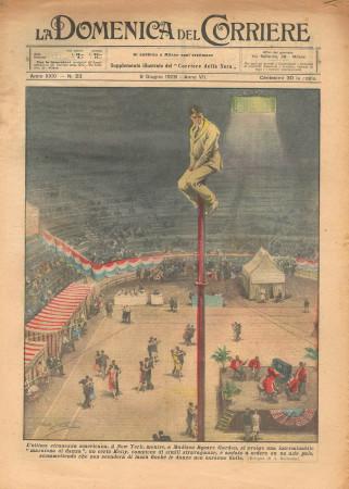 """1929 * Original Historical Magazine """"La Domenica Del Corriere (N°23) - L'Ultima Stranezza Americana"""""""