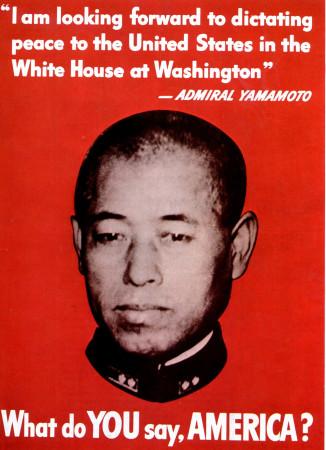 """ND (WWII) * War Propaganda Reproduction """"USA - Che Ne Dici, America?"""" in Passepartout"""