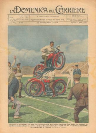 """1929 * Original Historical Magazine """"La Domenica Del Corriere (N°38) - Acrobazie Di Precisione"""""""