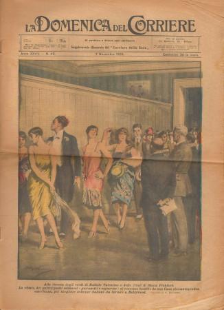 """1926 * La Domenica Del Corriere (N°45) """"Concorso di Bellezza a Milano"""" Original Magazine"""
