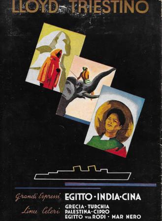 """1936 * Advertising Original """"Lloyd Triestino - Egitto, India, Cina"""" in Passepartout"""