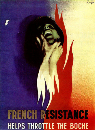 "ND (WWII) * War Propaganda Reproduction ""Francia - Resistenza Francese"" in Passepartout"