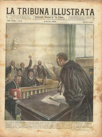 """1930 * Original Historical Magazine """"La Tribuna Illustrata (N°48) - Setta Ungherese A Processo"""""""