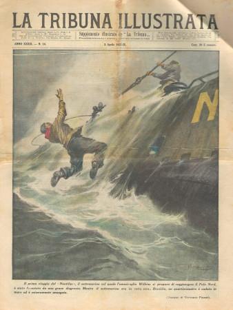 """1931 * Original Historical Magazine """"La Tribuna Illustrata (N°14) - Quartiermastro Caduta Dal Nautilus"""""""