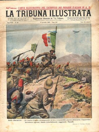 "1935 * Original Historical Magazine ""La Tribuna Illustrata (N°46) - Truppe Italiane Raggiungono Macallè"""