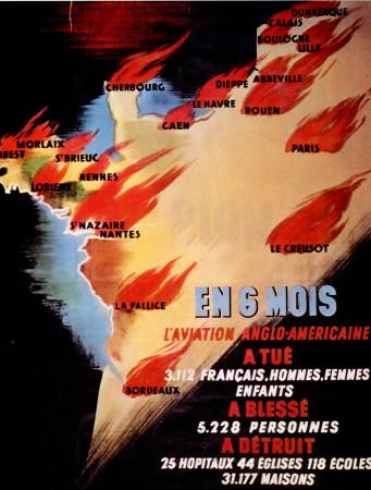 """ND (WWII) * War Propaganda Reproduction """"Governo di Vichy - In Sei Mesi"""" in Passepartout"""