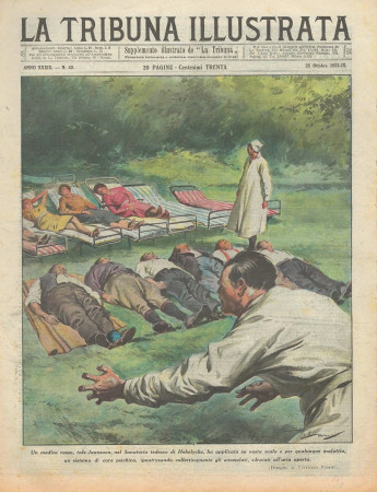 """1931 * Original Historical Magazine """"La Tribuna Illustrata (N°43) - Medico Russo Ipnotizza Pazienti"""""""