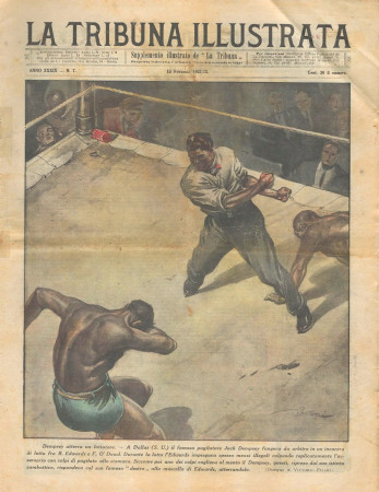 "1931 * Original Historical Magazine ""La Tribuna Illustrata (N°7) - Dempsey Atterra Un Lottatore"""