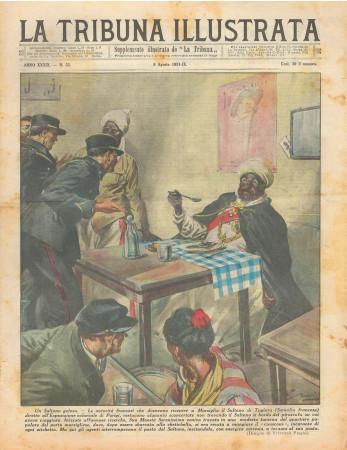 """1931 * Original Historical Magazine """"La Tribuna Illustrata (N°32) - Un Sultano Goloso"""""""