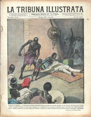 """1935 * Original Historical Magazine """"La Tribuna Illustrata (N°34) - Inumani Riti Abissini"""""""