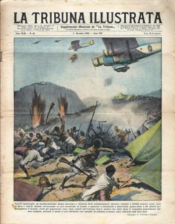 """1935 * Original Historical Magazine """"La Tribuna Illustrata (N°48) - Squadriglie Decimano Ammassamenti Abissini"""""""