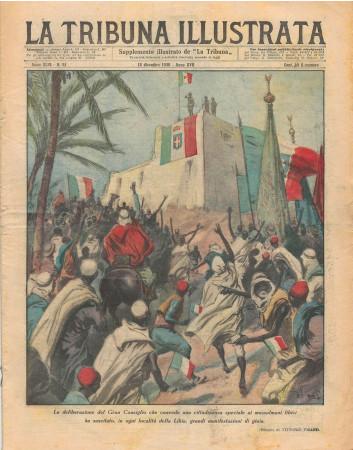 """1938 * La Tribuna Illustrata (N°51) – """"Cittadinanza in Libia - Orsi nel Caucaso"""" Original Magazine"""