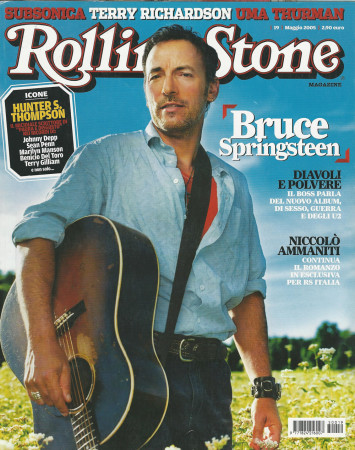"2005 (N19) * Magazine Cover Rolling Stone Original ""Bruce Springsteen"" in Passepartout"