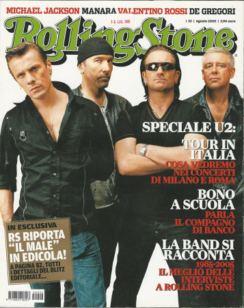 "2005 (N22) * Magazine Cover Rolling Stone Original ""U2"" in Passepartout"