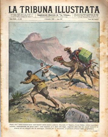 """1935 * Original Historical Magazine """"La Tribuna Illustrata (N°49) - Degiac Cassa Sebat Si Da Alla Fuga"""""""