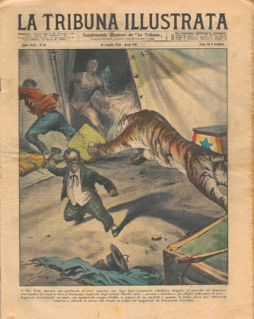 "1938 * La Tribuna Illustrata (N°22) – ""Tigre e il Nano - Ladro a Sarajevo"" Original Magazine"