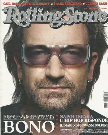 "2006 (N27) * Magazine Cover Rolling Stone Original ""Bono"" in Passepartout"