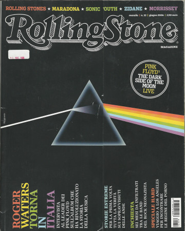 """2006 (N32) * Magazine Cover Rolling Stone Original """"Pink Floyd: The Dark Side Of The Moon"""" in Passepartout"""