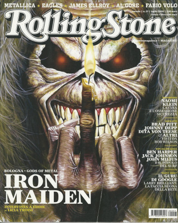 "2008 (N57) * Magazine Cover Rolling Stone Original ""Iron Maiden"" in Passepartout"