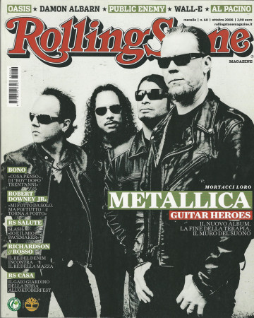 "2008 (N60) * Magazine Cover Rolling Stone Original ""Metallica"" in Passepartout"