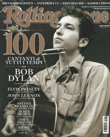 "2009 (N64) * Magazine Cover Rolling Stone Original ""Bob Dylan"" in Passepartout"