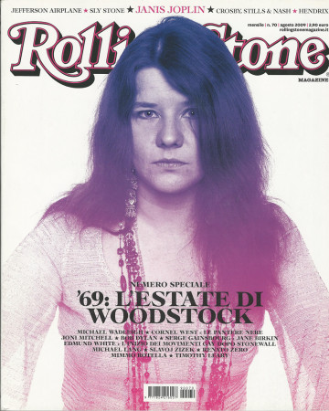 "2009 (N70) * Magazine Cover Rolling Stone Original ""Janis Joplin"" in Passepartout"