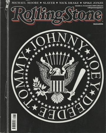 """2009 (N73) * Magazine Cover Rolling Stone Original """"Ramones"""" in Passepartout"""