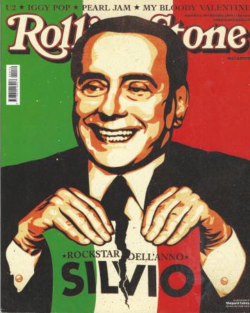 "2009 (N74) * Magazine Cover Rolling Stone Original ""Silvio Berlusconi"" in Passepartout"