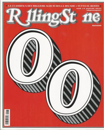 """2010 (N75) * Magazine Cover Rolling Stone Original """"Migliori Album Decade"""" in Passepartout"""