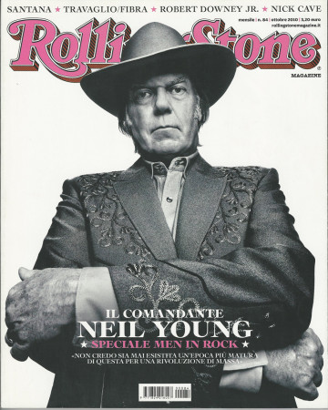"2010 (N84) * Magazine Cover Rolling Stone Original ""Neil Young"" in Passepartout"