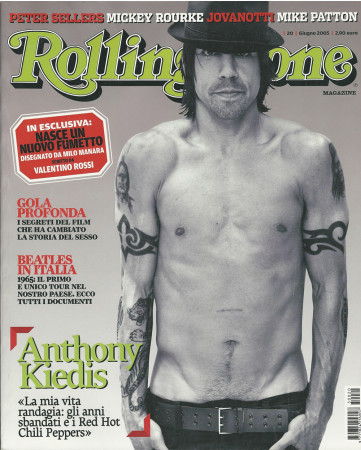 "2005 (N20) * Magazine Cover Rolling Stone Original ""Anthony Kiedis"" in Passepartout"