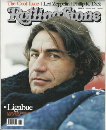 """2004 (N4) * Magazine Cover Rolling Stone Original """"Ligabue"""" in Passepartout"""