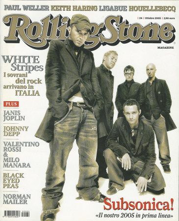 "2005 (N24) * Magazine Cover Rolling Stone Original ""Subsonica"" in Passepartout"
