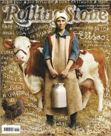 "2010 (N79) * Magazine Cover Rolling Stone Original ""Elisa"" in Passepartout"