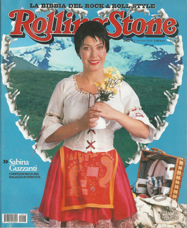 "2004 (N3) * Magazine Cover Rolling Stone Original ""Sabrina Guzzanti"" in Passepartout"
