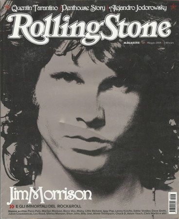 "2004 (N7) * Magazine Cover Rolling Stone Original ""Jim Morrison"" in Passepartout"