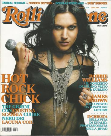"""2006 (N34) * Magazine Cover Rolling Stone Original """"Cristina Scabbia"""" in Passepartout"""
