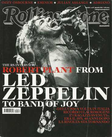 "2011 (N87) * Magazine Cover Rolling Stone Original ""Led Zeppelin"" in Passepartout"